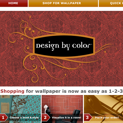 Blue Mountain Blue Mountain Wallcoverings - Design by Colour website interface