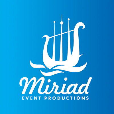 Myriad Event productions visual identity feature image